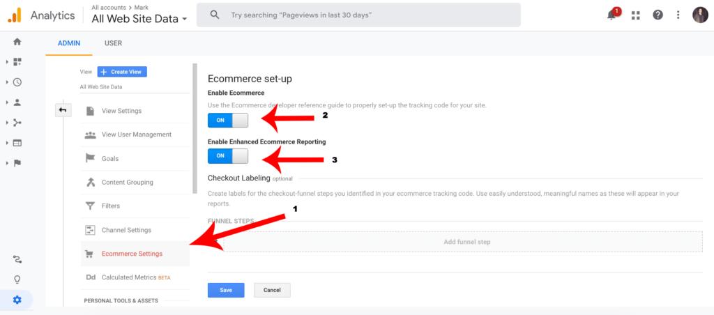 google analytics for ecommerce